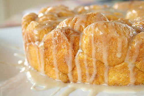 Pumpkin Pull-Apart Monkey Bread with Maple Glaze