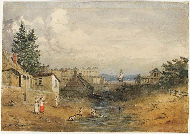 Old Tank Stream Sydney, 1852