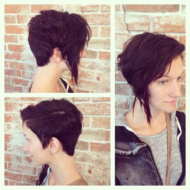 Kristi S Asymmetrical Haircut Color And Pinch Braid