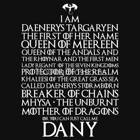 Game of Thrones Daenerys Targaryen Titles