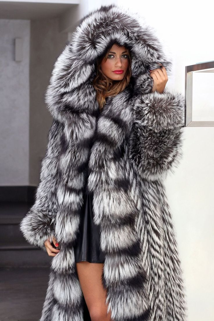 Fox Fur Jacket With Hood