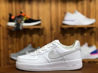 0d17a428b7f9 Mens Womens Shoes Nike Air Force 1 07 SE White Vast Grey AA0287 102 ...