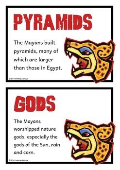 A set of 28 printables that is a glossary of the Maya/ Mayan civilization. Each page has a key word heading, making it great for discussion, activities and displays for this historical topic. Visit our TpT store for more information and for other classroom display resources by clicking on the provided links.