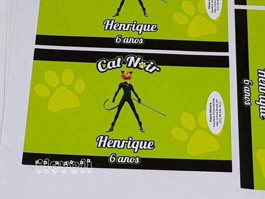 Rótulo para bolinha de sabão - Catnoir  :: flavoli.net - Papelaria Personalizada :: Contato: (21) 98-836-0113 - Também no WhatsApp! vendas@flavoli.net