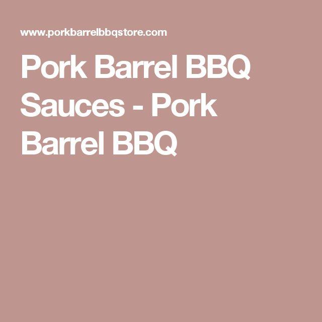 Pork Barrel BBQ Sauces - Pork Barrel BBQ