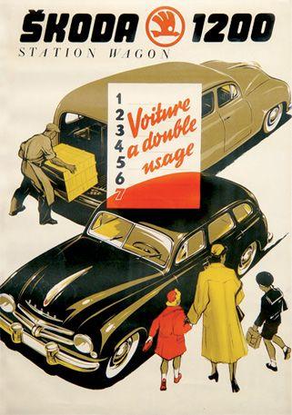Škoda poster - Skoda - Škoda Auto,Czechoslovakia  !! < ²  IT zlodziej? 1,3´  https://de.pinterest.com/davide2623/eurocars/