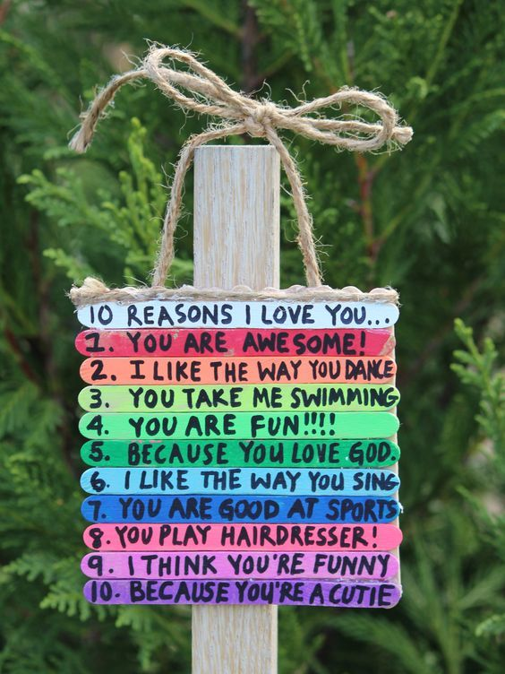 10 Reasons I Love My Dad! - Father's Day - Popsicle Stick Crafts: