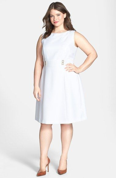 Tahari by ASL Textured Fit & Flare Dress (Plus Size) available at #Nordstrom