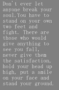 Keep fighting...