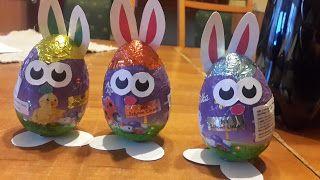 Ania mama Agnieszki: Czekoladowe jajka zajączki - szablony do druku
