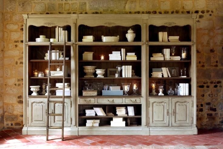 Ensemble bibliothèque - Collection Châteaux & Dépendances - Copyright Interior's France