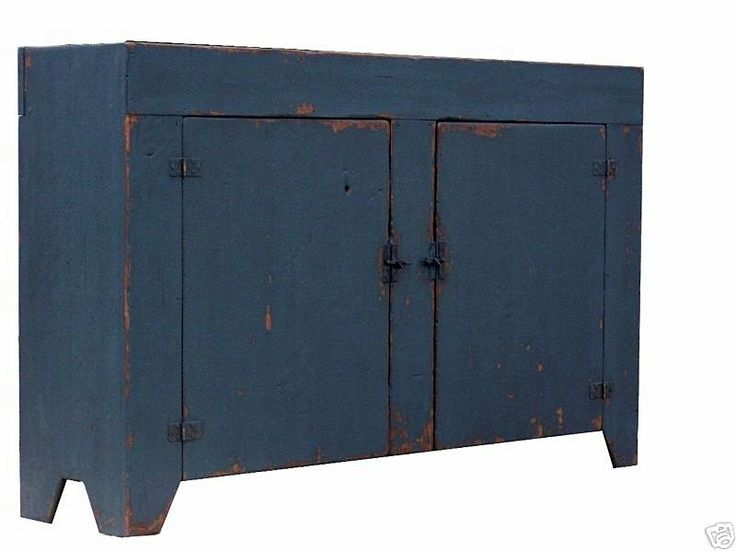 Farmhouse Sink Cabinet : Early American farmhouse dry sink cabinet painted reproduction countr ...