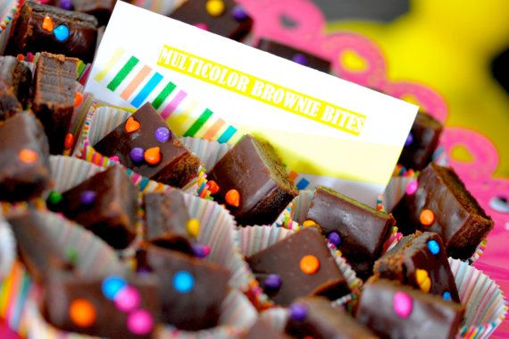 Neon Party Food Labels / Place Cards / Favor by HipDIYPartyPlans #neonparty #glowinthedark