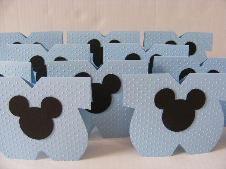 Como Hacer Invitaciones De Mickey Mouse Para Baby Shower | Manualidades  Para Baby Shower