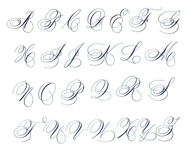 Spencerian Capital Letters Callighraphy Lettering