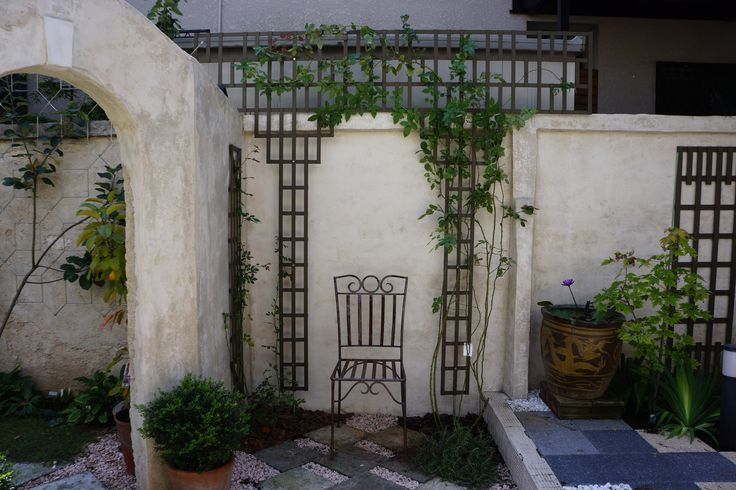 Garden Idea, Patio Desing, Trellis, Lattice, DIY, Rose