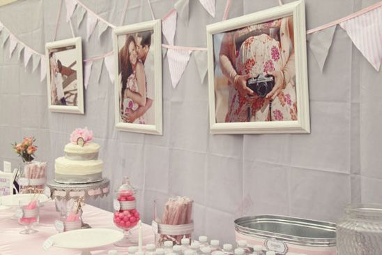 pink party or baby girl shower: Baby Parties, Girls Babyshower Pink And Gray, Baby Girls Shower, Babyshower Ideas, Baby Girl Shower, Baby Pictures, Gray Baby Showers, Maternity Photo, Pink Parties