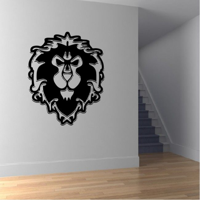 Alliance Wall Sticker World of Warcraft Wall Art   man ...