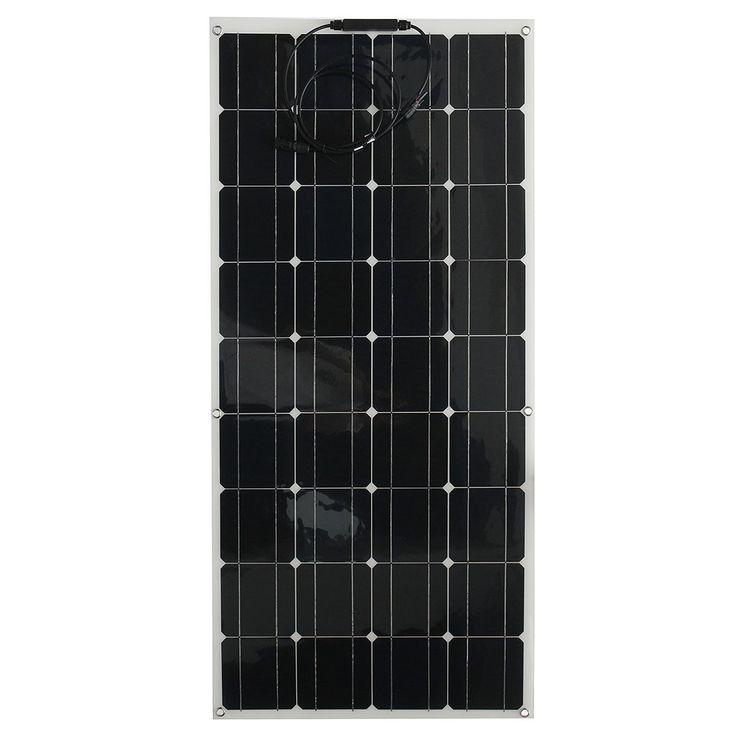 Elfeland EL-11 130W 18V semi flexible Solar panel con cable para casa RV barco