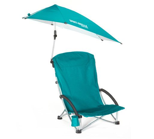 Features:  Fold  Out Beach Chair With 360 Degree Swivel Umbrella.  Complete