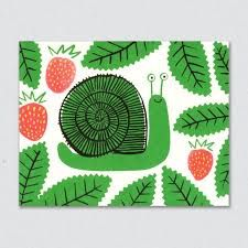 Image result for cut out snail card