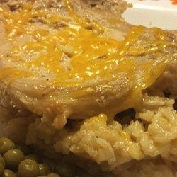 Pork Chop and Cheesy Rice Casserole - Allrecipes.com #AllrecipesAllstars #AllrecipesFaceless