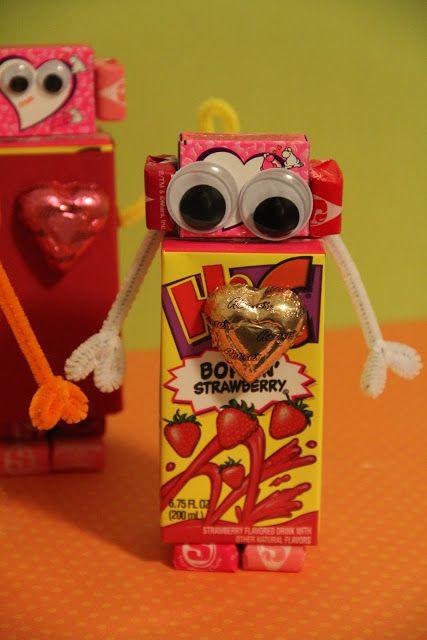Robot Valentine- a cute Valentines surprise to stash in their lunch