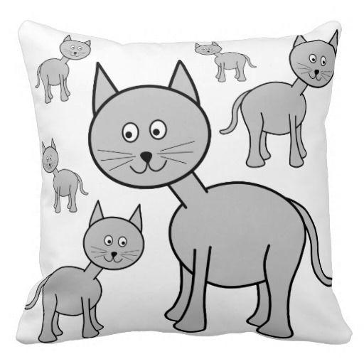 Симпатичные серые кошки.  Кот.