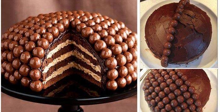 Come fare torta al cioccolato con praline