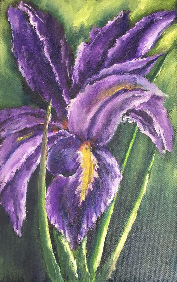 """Orquídea"" (Orchid). 2013. 22x14cm. Oil on canvas."