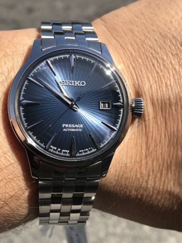 afbbb3788 Seiko Men's Presage Cocktail Bluemoon Automatic Watch Stainless SRPB41