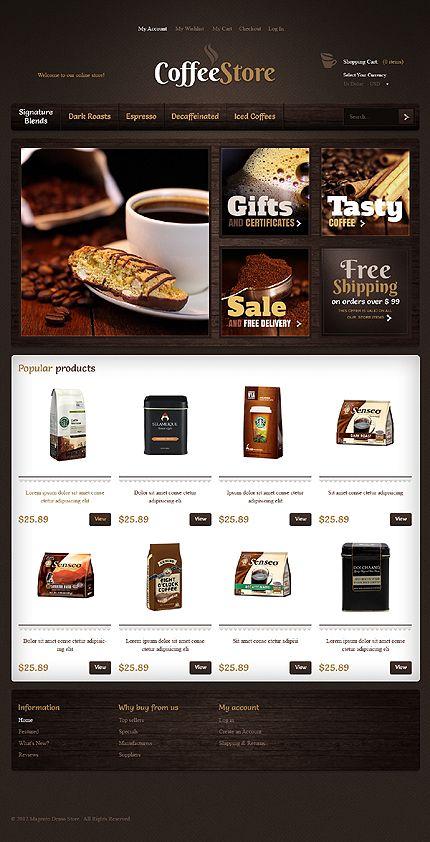 Coffee Store Website Template | #webdesign #it #web #design #coffee #layout #userinterface #website #webdesign <<< repinned by www.BlickeDeeler.de | Follow us on www.facebook.com/BlickeDeele