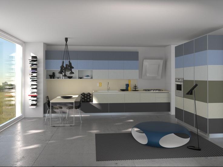 Tetrix by Micheal #Young #Scavolini #kitchen #Livingroom Colour Kit K10