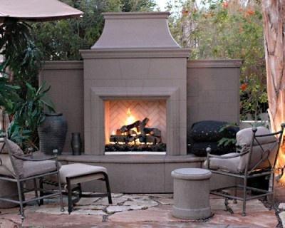 Nice Precast Outdoor Fireplace
