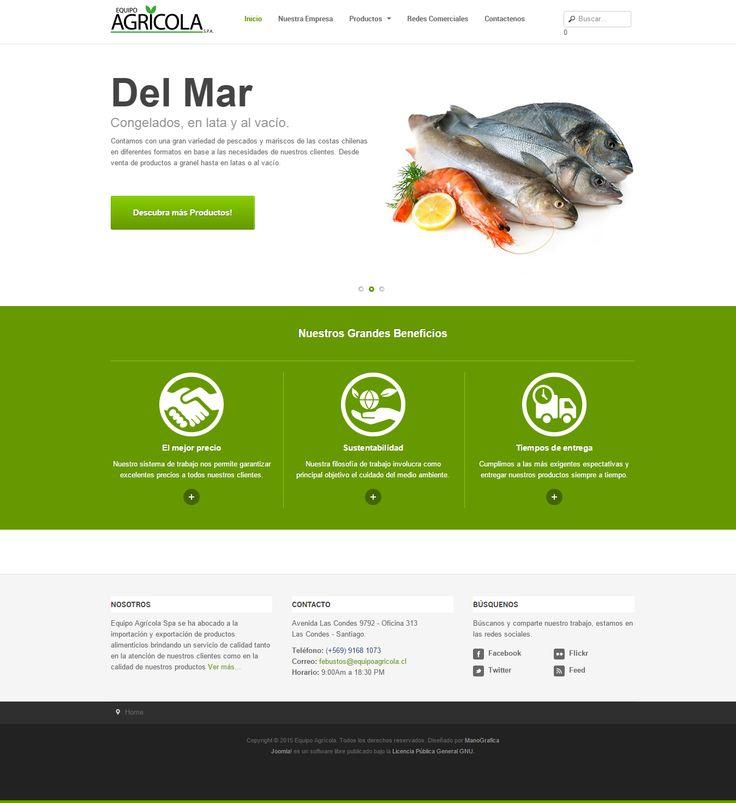 Importadora y distribuidora de productos alimentarios agrícolas. www.equipoagricola.cl