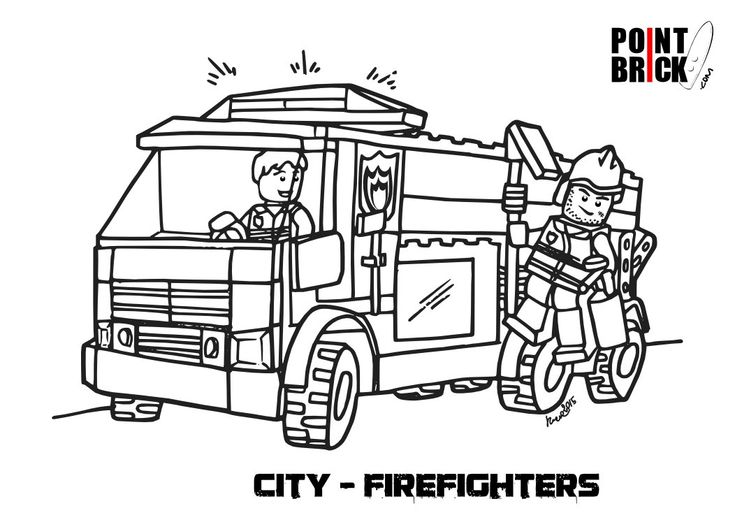 Disegni da colorare lego city firefighters pompieri for Disegni di lupi da stampare