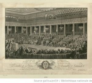 L'ouverture des Etats Généraux le 5 mai 1789 à Versailles.