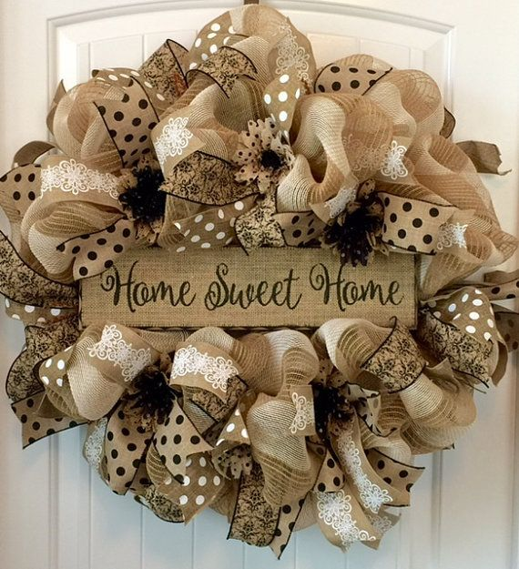 Summer Wreath For Front Door, Summer Door Wreath, Welcome Wreath, Everyday Wreath, Spring and Summer Door Decor, Beautiful Front Door Decor