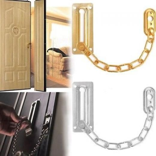 Door Chain Guard Lock Security Brass Bolt Swing Bar Home Solid Safety Slide Yes China
