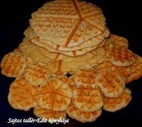 Sajtos tallér gofri sütőben sütve