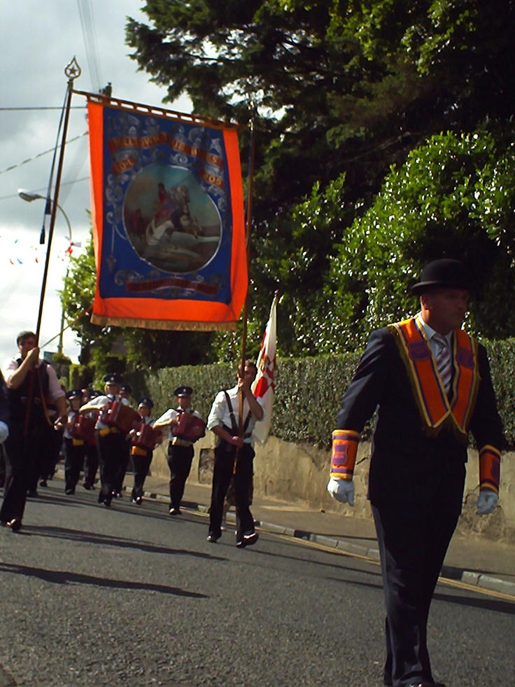 Orange order march in Cullybackey (12.07.08) - My family came from Cullybackey to the United States.