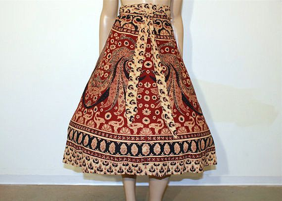1970's Skirt / Devine Devi Vintage 70's by Planetclairevintage, etsy: Lampshade