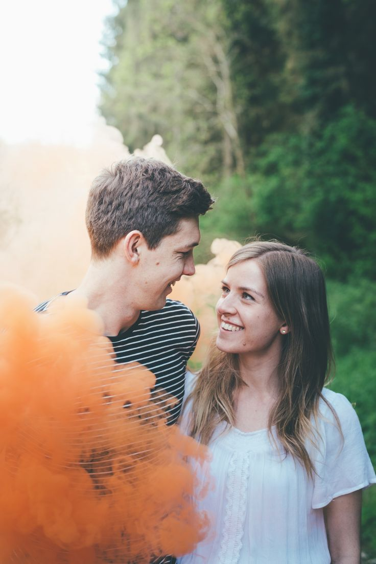 Smoke bomb engagement shoot.  Matt Fox Photography - Blog
