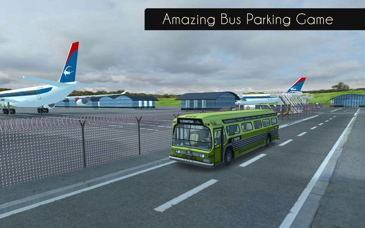 Take on the tasks of an airport bus driver and navigate your way to the parking spot without crashing your vehicle.  Download it Now! #parking #games #simulation #bus #airport