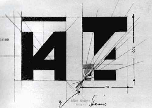 [1968] Albe Steiner - Studi per il marchio della XIV Triennale di Milano