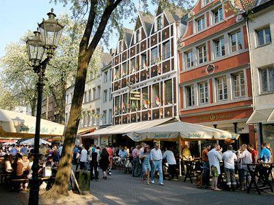 Old Town, Dusseldorf, Germany...zwei big bier anyone?