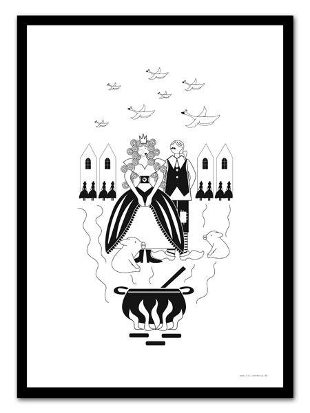 """H.C Andersen plakat """"Svinedrengen"""""""