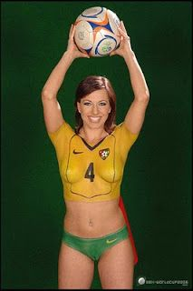 Body painting soccer balls women body paint pinterest for America s finest paint