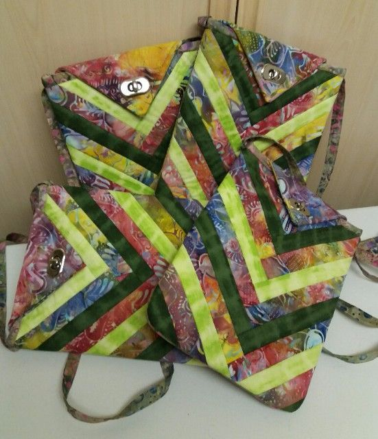 Rainbow Across the Body Bag Pattern