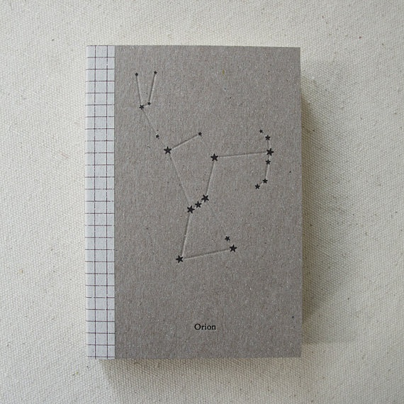 Sketch Book Cover ~ Constellation letterpress sketchbook orion